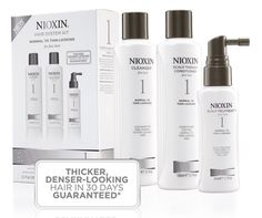 Nioxin - Hair System Kit 1 For Fine Hair. AMPLIFIES HAIR TEXTURE WHILE PROTECTING AGAINST BREAKAGE.