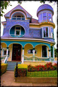 Painted lady with porch