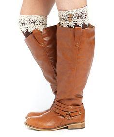 Look what I found on #zulily! Brown Crochet Short Boot Cuffs #zulilyfinds