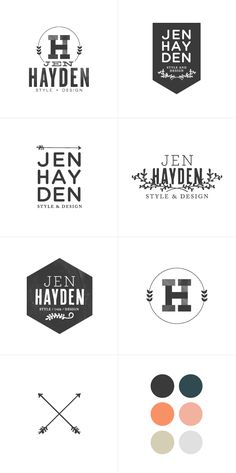 Logo design process.