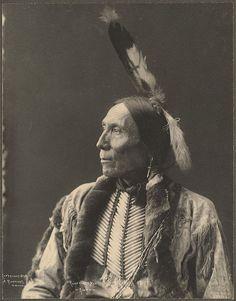 F.A Rinehart photograph of Chief White Man, Kiowa. (c. 1898).