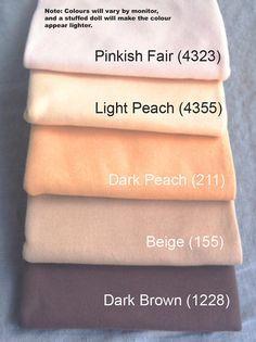 b7d9d961246 Light - Waldorf Doll Skin Fabric - Laib Yala - Interlock - 1/2 meter cut