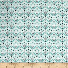 Cloud 9 Organic Wildwood Pretty Posies Turquoise from @fabricdotcom  From Cloud 9 Fabrics, this certified 100% organic cotton print fabric meets the GOTS certification; only low impact, organic dyes were used in this product. This fabric is perfect for quilts, home decor accents, craft projects and apparel. Colors include off white, navy, mint and turquoise.