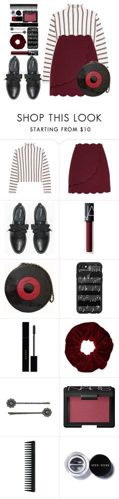 """#1214 Martine"" by blueberrylexie ❤ liked on Polyvore featuring Maje, Ted Baker, Max&Co., NARS Cosmetics, Chanel, Casetify, Gucci, Miss Selfridge, 1928 and GHD"
