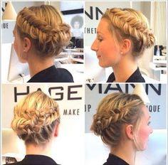 Flechtfrisur made by Anne. Hair&Beauty Hagemann // Friseur Bonn #flechtfrisur #geflochten #flechtkranz