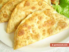 How to Cook Chebureki Filled with Cheese and Greens | Russian Food Recipes | Genius cook - Healthy Nutrition, Tasty Food, Simple Recipes