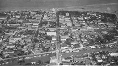 Aerial of Flagler Street in 1921