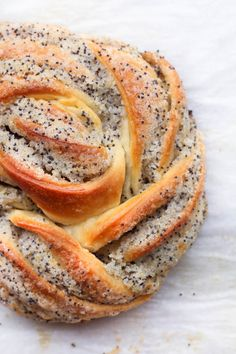 Lemon Cardamom Poppy Seed Twists – The Sweet and Simple Kitchen – Claudia Haendler – macedonian food Cardamom Buns Recipe, Babka Recipe, Bun Recipe, Poppy Seed Recipes, Baking Buns, Macedonian Food, Food 52, Sweet Bread, Bread Recipes