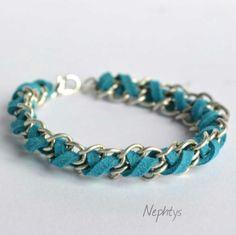 Bracelet bleu ciel sky-blue pulsera celeste