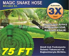 Free Shipping 1X 75FT NEW Retractable Hose Water Pipe After 22.5 Meters Hose With Gun Imperially Magic Hose