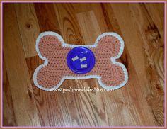 Dog Bowl Placemat .... Free pattern