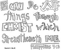 Philippians Bible Verse Coloring Pages