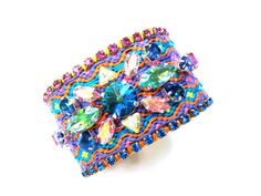 Friendship bracelet   Swarovski embellished by distinguishedesigns, $200.00