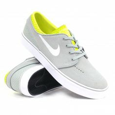 new styles f623e 68e3b Nike SB Zoom Stefan Janoski (Base GreyWhite-Venom Green) Men s Skate Shoe   Ambush Board Co.   79.99