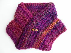 Art, Crafts and Vintage Golden Heart, Heart Crafts, Neck Warmer, Knitted Hats, Purple Things, Knitting, Crochet, Infinity, Color