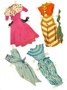 Doris Day paper doll outfits