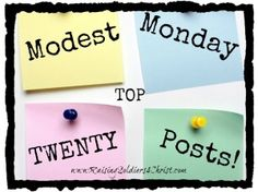 Top 20 Modest Monday Posts for 2014