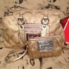 COACH Gold Bag..