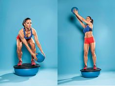 5 Moves To Get Chiseled From Head To Toe Best Stability Training Exercises for Women Muscle & Fitness Bosu Workout, Gym Workouts, At Home Workouts, Ball Workouts, Weekly Workouts, Morning Workouts, Quick Workouts, Swimming Workouts, Swimming Tips