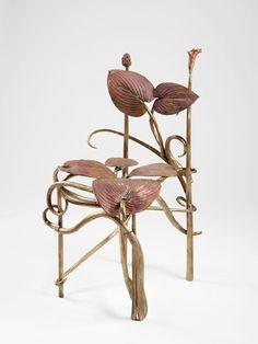 Bronze chair (chaise hosta) by Claude Lalanne, 1998