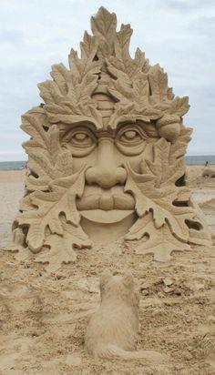 Superbe Sculpture sur sable !  #sable #art  #magnifique
