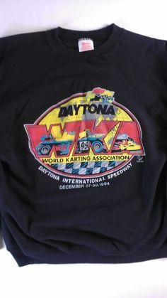 d9c58e0f3 WKA Racing World Karting Association Sweatshirt 1994 Daytona Mens L/XL  Hanes http:/