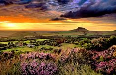 """pagewoman: """" """"Odin's Fire"""" - Roseberry Topping, Great Ayton, North Yorkshire, England by Cass """" South Yorkshire, Yorkshire Dales, Yorkshire England, The Beautiful Country, Beautiful Places, Amazing Places, Pictures Of England, English Countryside, Great Shots"""