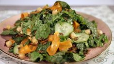Mixed Greens Salad with Zesty Pumpkin Seeds CLINTON KELLY - Chew Recipes