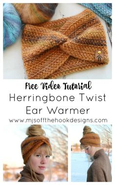 We've added a new kit to our shop! The crochet Herringbone Twist Ear Warmer by Sentry Box Designs! Stay cozy and trendy in our Herringbone Twist Ear Warmer. Herringbone double crochet stitch is… Crochet Ear Warmer Pattern, Crochet Headband Pattern, Knitted Headband, Crochet Hooks, Knitted Hats, Knit Crochet, Crochet Headbands, Crochet Ear Warmers, Crochet Granny