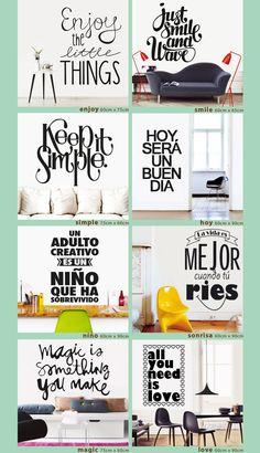 Vinilos decorativos frases y textos