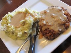 Country fried steak with gravy Simple Fare, Fairly Simple