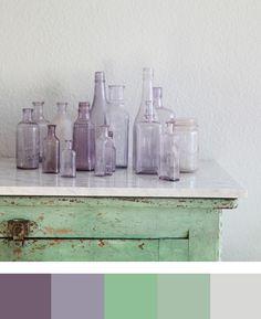 colors Antique Bottles, Vintage Bottles, Bottles And Jars, Antique Glass, Glass Bottles, Empty Bottles, Mason Jars, Apothecary Bottles, Objets Antiques