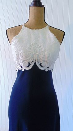 Dress, white, blue - simple but elegant! - Use code pinterest20 for 20% off this item.