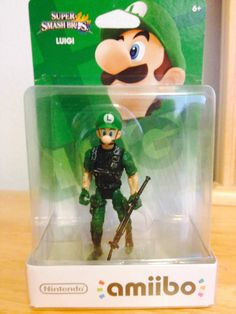 The new super smash bros luigi amiibo looks nice Super Mario Memes, Super Smash Bros Memes, Nintendo Super Smash Bros, Super Mario Bros, Undertale Music, Nintendo Amiibo, Mario And Luigi, Funny Games, Offensive Memes