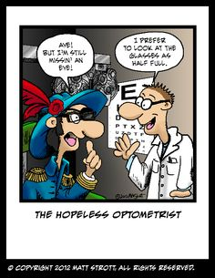 The Hopeless Optometrist #Talk Like A #Pirate Day in September