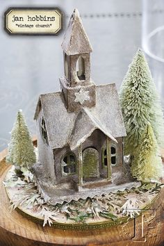 today's final project inthe holiday inspiration series takes our imagination to a wintery wonderland. this vintage church from jan hobbinscaptureschristmastime charmusing thelatest village di...