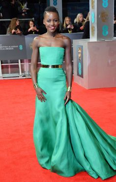 Glorious Red Carpet Green and Gold dress and jewelry combo