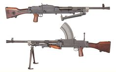 Bren Gun - Great Britain - produced 1935-1971 Caliber .303 - 20 or 30 round box/100 round pan magazine - 500-520 rpm