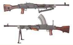 British Bren light machine gun.