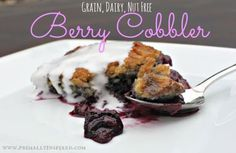This berry cobbler is my favorite dessert of the summer! Use fresh or frozen ber