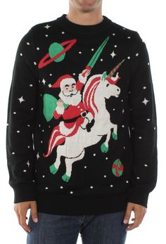 Men's Santa Unicorn Sweater | Tipsy Elves