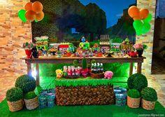 Decoração Minecraft – Festa do meu filho Arthur 7 anos – Inspire sua Festa ®