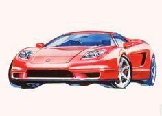 2002 Acura NSX sketches