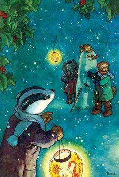 Illustration by Alfred Bestall for Rupert Bear.
