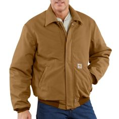 a637a1a23dd9 101623 Carhartt Flame-Resistant Duck Bomber Jacket Quilt Lined Carhartt  Jacket