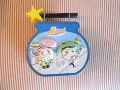 Fairly Odd Parents Tin mini Lunch Box Wand Handle Holograph  #Nickelodeon