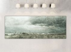 "Farbe - ""Stormy grey"" Panorama-Leinwand 120x40 cm - ein Designerstück von BlickFangFotografie bei DaWanda"