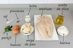 Albóndigas de merluza en salsa verde - Código Cocina Salsa Verde, Dairy, Cheese, Recipes, Food, Purse, Beer Chicken, Beverage, Food Crafts