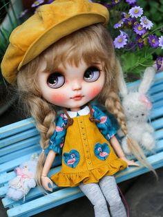 Trendy Printed Vest Top for Blythe Dolls 1//6 BJD Doll DIY Dress-up Outfit