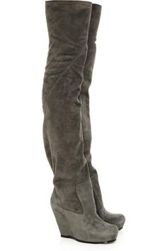 f3aaae19b7272 Grey Suede Boots Knee Boots
